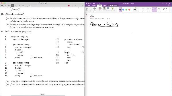 LTP - Tema 1 - Ejercicio - Alcance de las variables