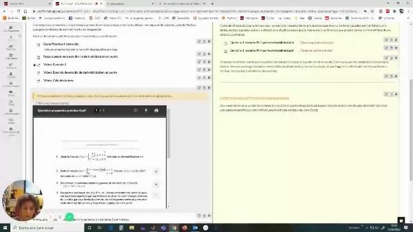Ejercicio resuelto de derivabilidad con Live Script de Matlab