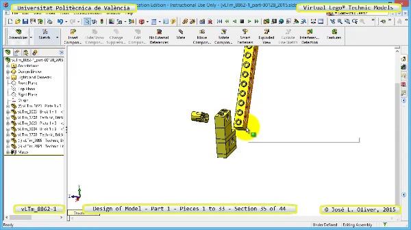 Creación Virtual Modelo Lego Technic 8862-1 ¿ Pieza 1 ¿ 35 de 44