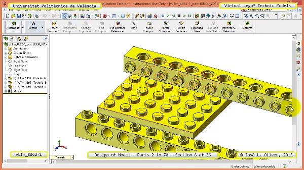 Creación Virtual Modelo Lego Technic 8862-1 ¿ Piezas 2 a 70 ¿ 06 de 36