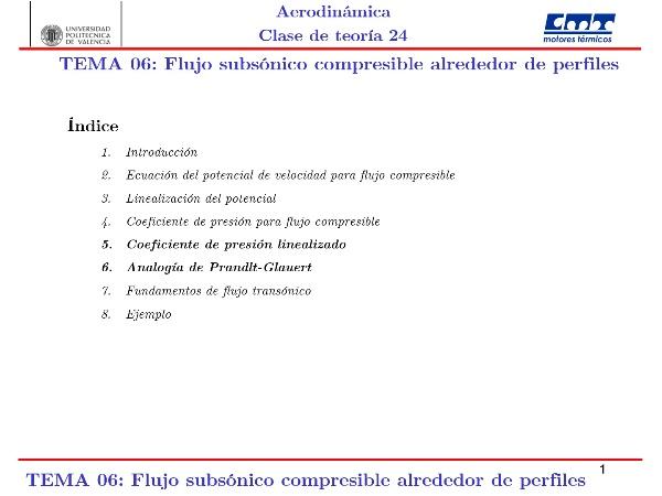 Aerodinámica I, Clase 24