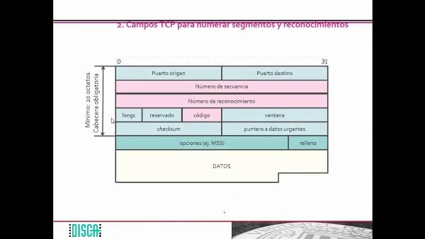 Numeración de segmentos y de reconocimientos en TCP