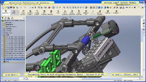 Simulación Cinemática Lego Technic 8432-1 con Cosmos Motion ¿ 09 de 24 - no audio