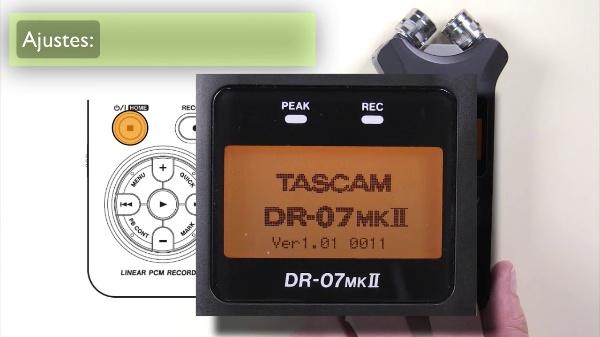 Grabadora Portátil TASCAM DR07MKII - Funcionamiento Básico