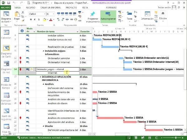 Resolver sobreasignaciones manualmente_Modificar duración de la tarea