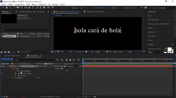 Texto Básico After Effects