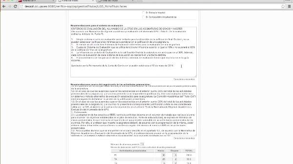 Recomendaciones generales Anexo I Verifica UPV