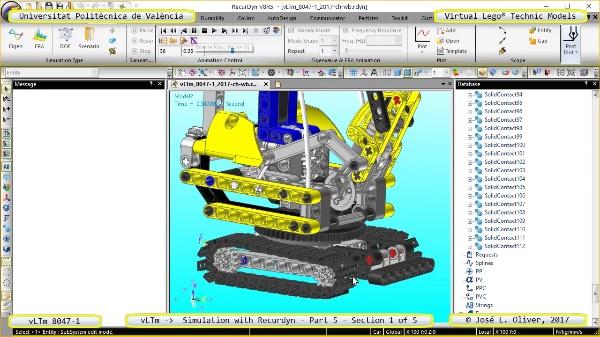 Simulación Dinámica Lego Technic 8047-1 sobre Base ¿ Parte 1 - 1 de 5