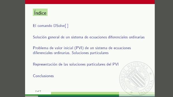 Sistemas de ecuaciones diferenciales ordinarias