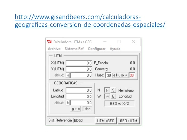 uso de la calculadora geodésica