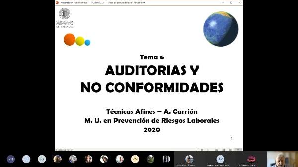 Técnicas Afines. Tema 6. Auditorías y no conformidades.