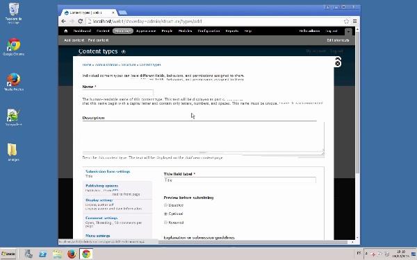 Creació de tipus de contingut en Drupal