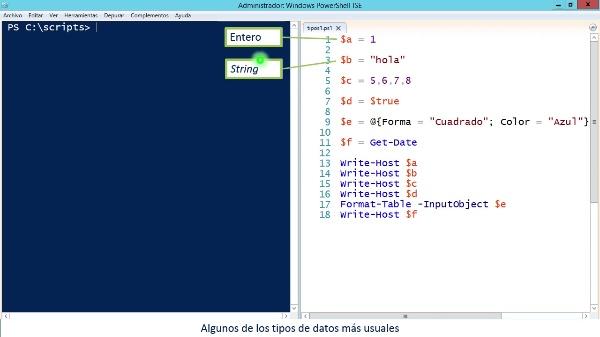 PowerShell: Tipos y operadores