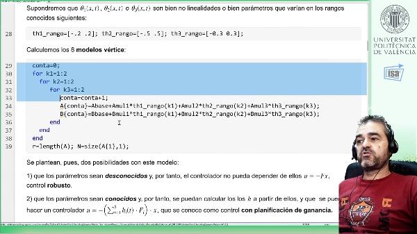 Planificación de ganancia interpolando diseños lineales (método ERRÓNEO, debe usarse LMIs)