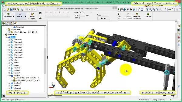 Simulación Cinemática Lego Technic 8459-2 con Cosmos Motion ¿ 14 de 29