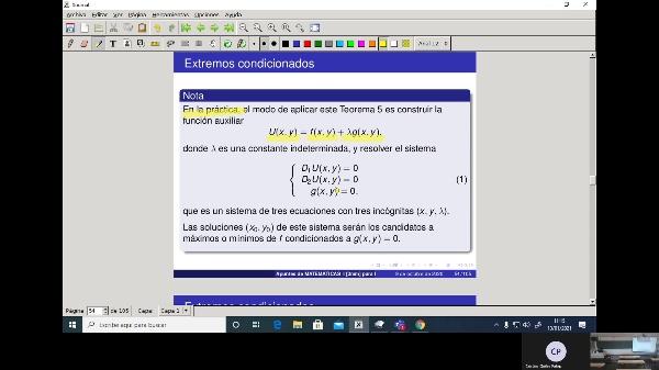 Matemáticas 1 GIOI grupo V  Clase 34 (Extremos 3)