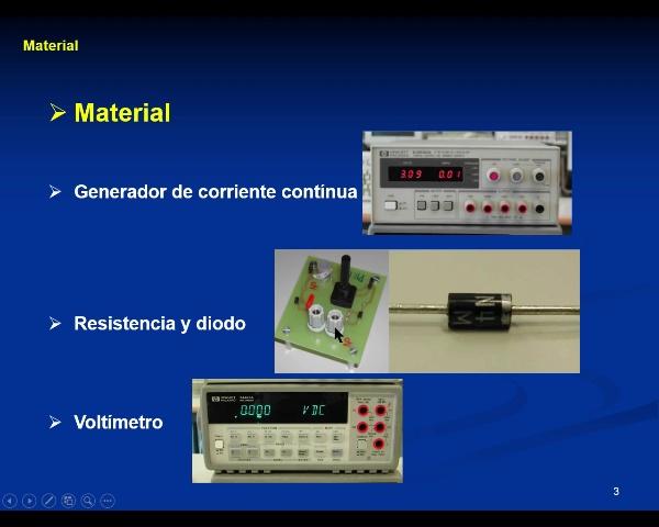 Laboratorio Electricidad: 5.-Diodo - video 1