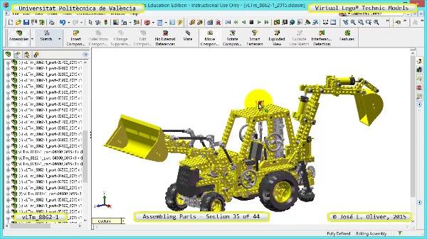 Creación Virtual Modelo Lego Technic 8862-1 ¿ Montaje Modelo ¿ 35 de 44