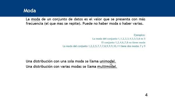 Cálculo de la moda de datos agrupados utilizando la hoja de cálculo Excel