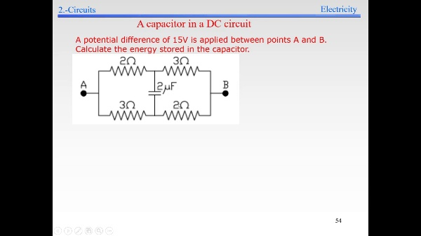 Elec-3-Electrokinetics-S54-S55-Capacitor in DC