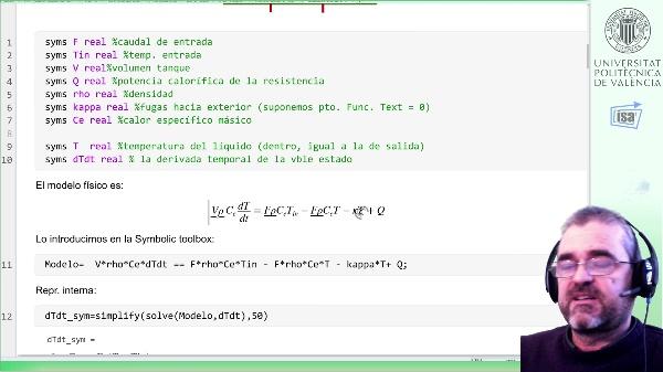 tanque de calentamiento de líquido de primer orden: linealización y análisis de propiedades