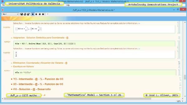 Solución Cinemática Simbólica a-z-1133 con Mathematica - 05 de 26