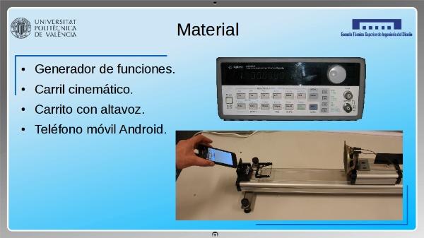 Medida del Efecto Doppler en ondas sonoras mediante el micrófono de un Smartphone