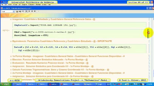 Solución Cinemática Simbólica a_c_0658 con Mathematica -B- 09 de 13