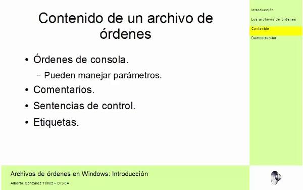 Introducción a lor archivos de órdenes en Windows