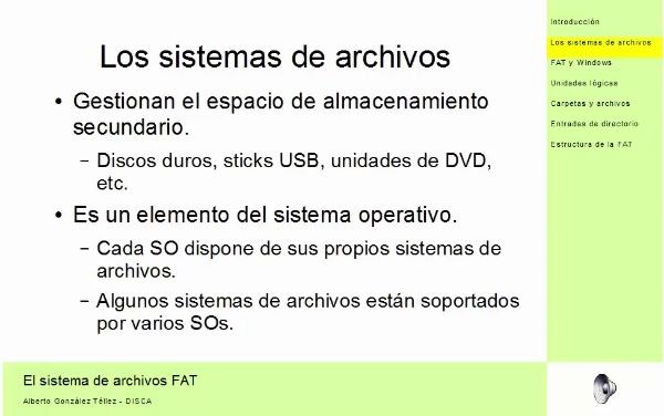 Sistema de archivos FAT