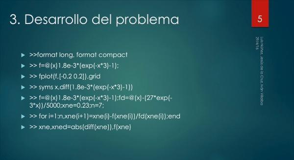 Solución de ecuaciones no lineales: Cálculo coeficiente de atenuación.