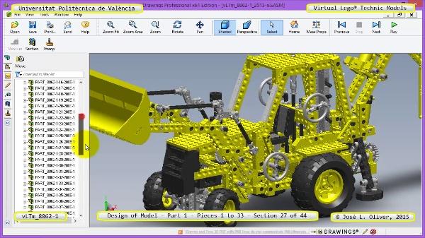 Creación Virtual Modelo Lego Technic 8862-1 ¿ Pieza 1 ¿ 27 de 44