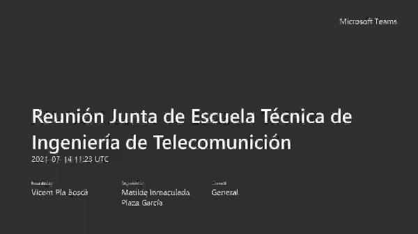 JdC 14 julio 2021. Informe del director