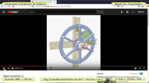 Simulación Cinemática Tang_EllipseMechanism3cInv-7p-v8r5 con Recurdyn - EngTa - 1 de 3
