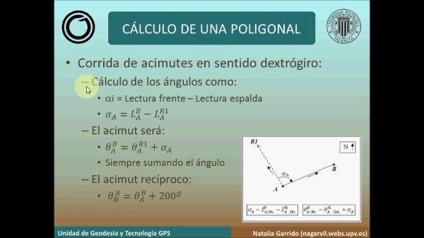 Métodos Topográficos. Resolución de una poligonal con Matlab