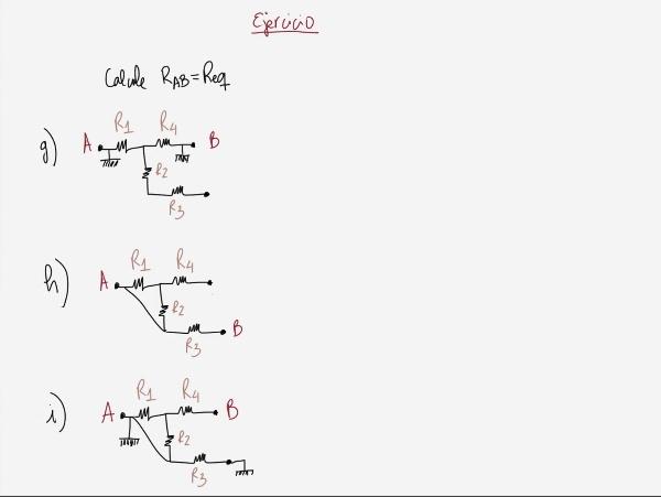 Teoría de circuitos: Ejercicio Resistencia equivalente