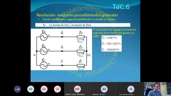 TdC-2.06.3.Sistemas Trifasicos: Resolución general con impedancias desacopladas. Ejemplos