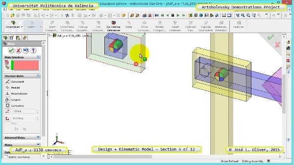 Creación Virtual y Simulación Mecanismo a-z-1138 con Cosmos Motion - 05 de 12