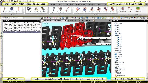 Simulación Cinemática Lego Technic 8047-1 con Recurdyn - Parte 4 ¿ 3 de 4