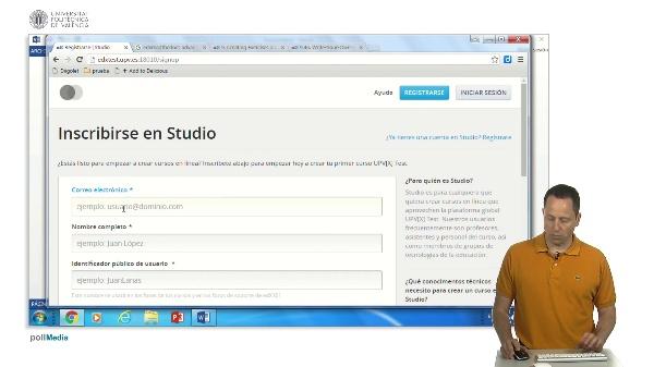 Solicitar una cuenta de prueba en upvx studio