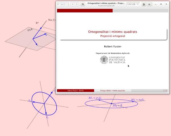 La projecció ortogonal sobre un subespai