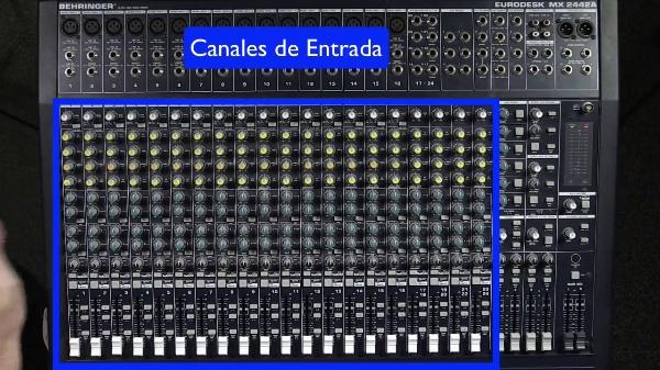 Mesa Mezclas de Sonido - Canales de Entrada