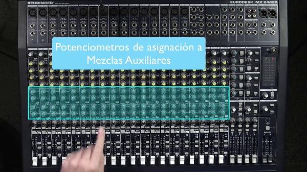 Mesa Mezclas de Sonido - Mezclas Auxiliares