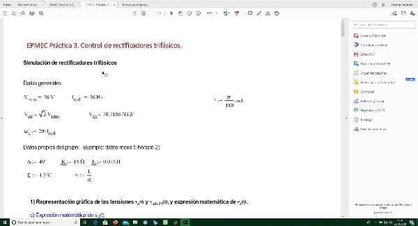 EPMEC 2020 Vídeo Apunte Pract3 Simulación de Rectificadores Trifásicos