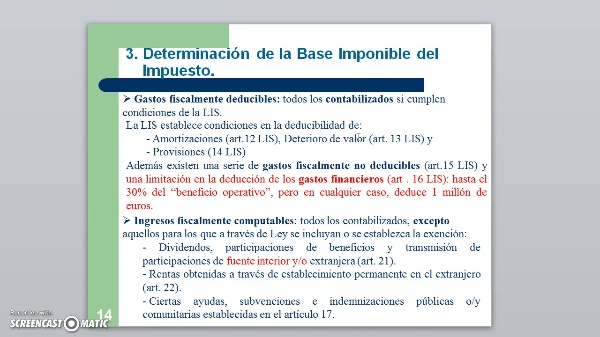 IS T2 Determ Base Imponible
