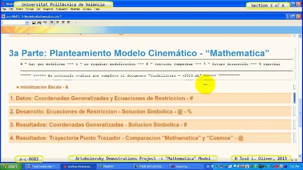 Solución Cinemática Simbólica a_c_0683 con Mathematica -B- 3 de 6