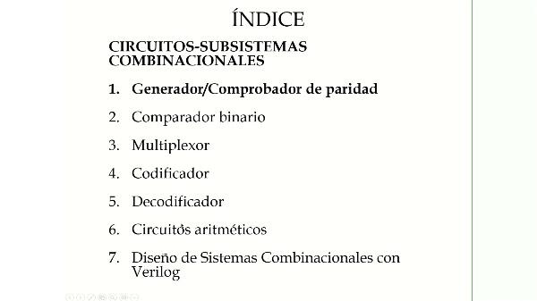 Subsistemas combinacionales. Circuitos aritmeticos. FSD. ETSIT
