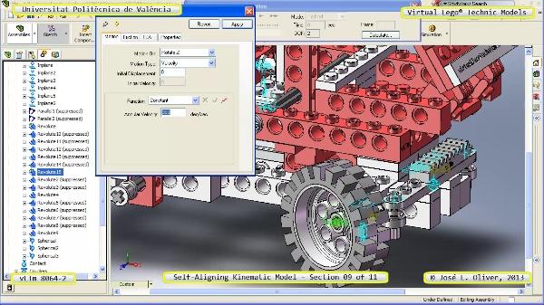 Simulación Cinemática Lego Technic 8064-2 con Cosmos Motion ¿ 09 de 11 - no audio