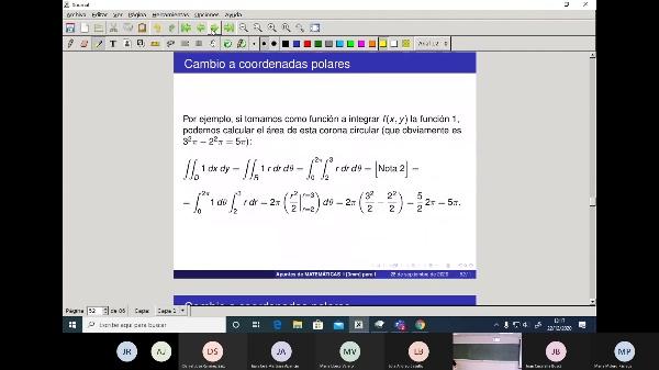Matemáticas 1 GITI grupo A  Clase 31 (Integrales dobles 3)