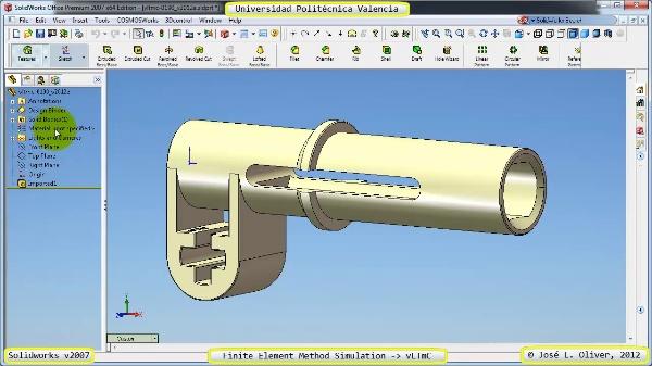 Análisis Estático Componente Lego Technic con Solidworks 2007